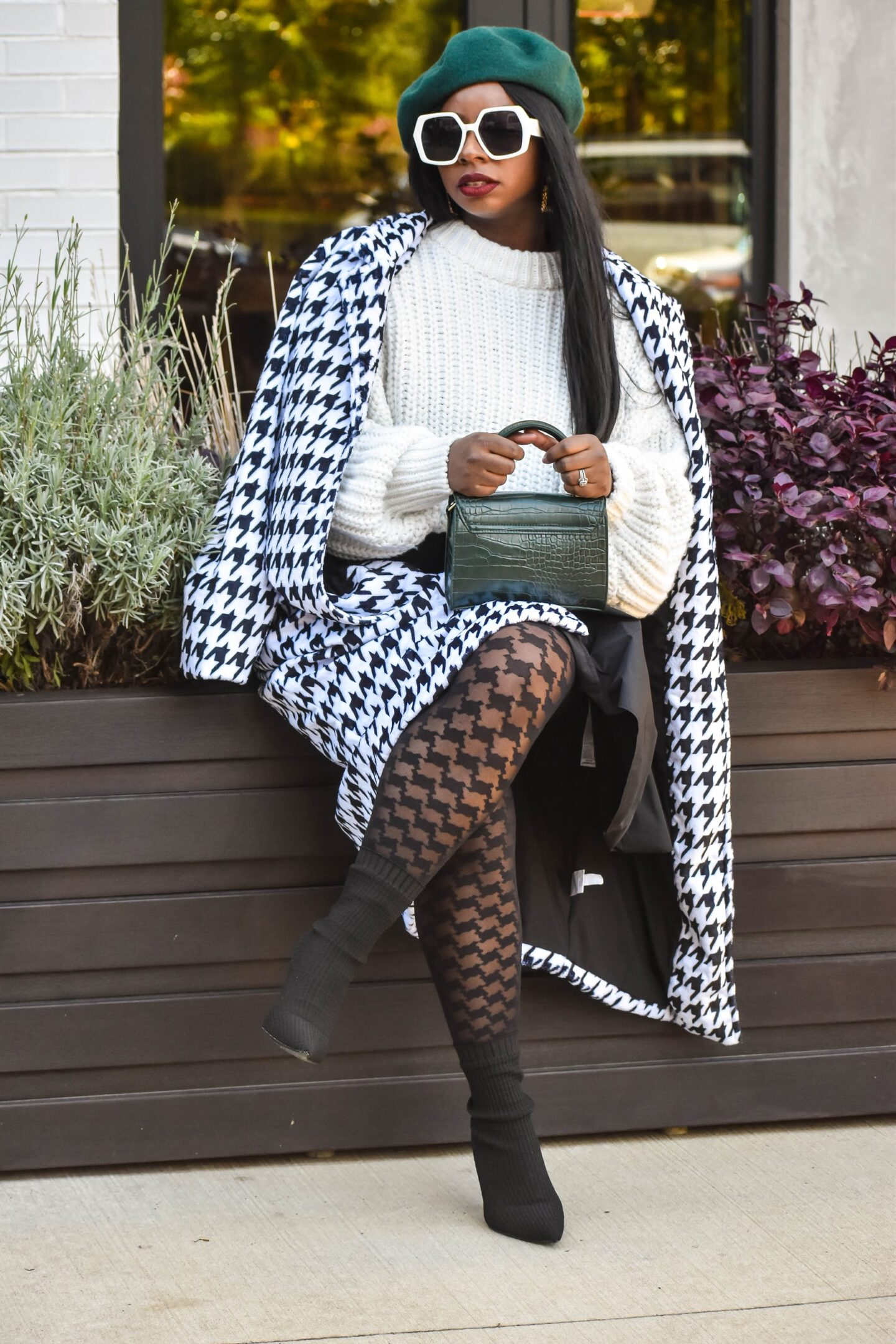 The Bold and Beautiful; Houndstooth Print and how to Rock it Effortlessly